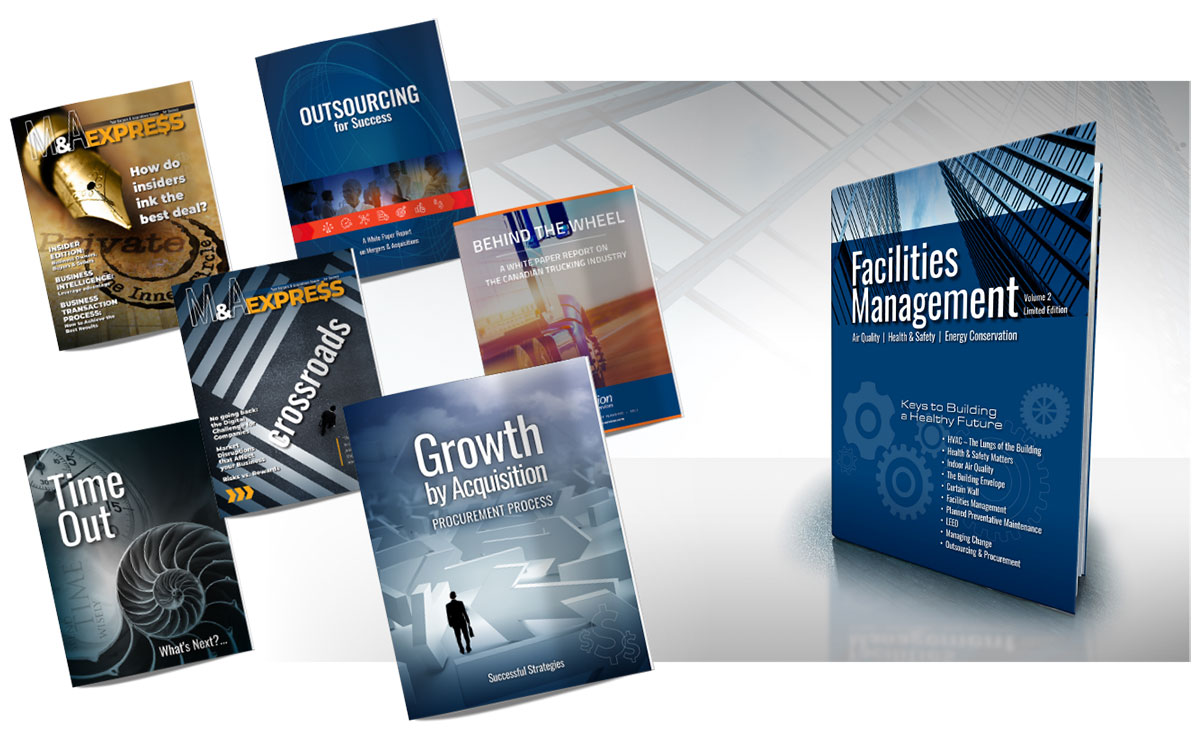 Design, Print, Publish, Books, White Papers, Industry Reports, E-books, Email & Direct Mail Campaigns